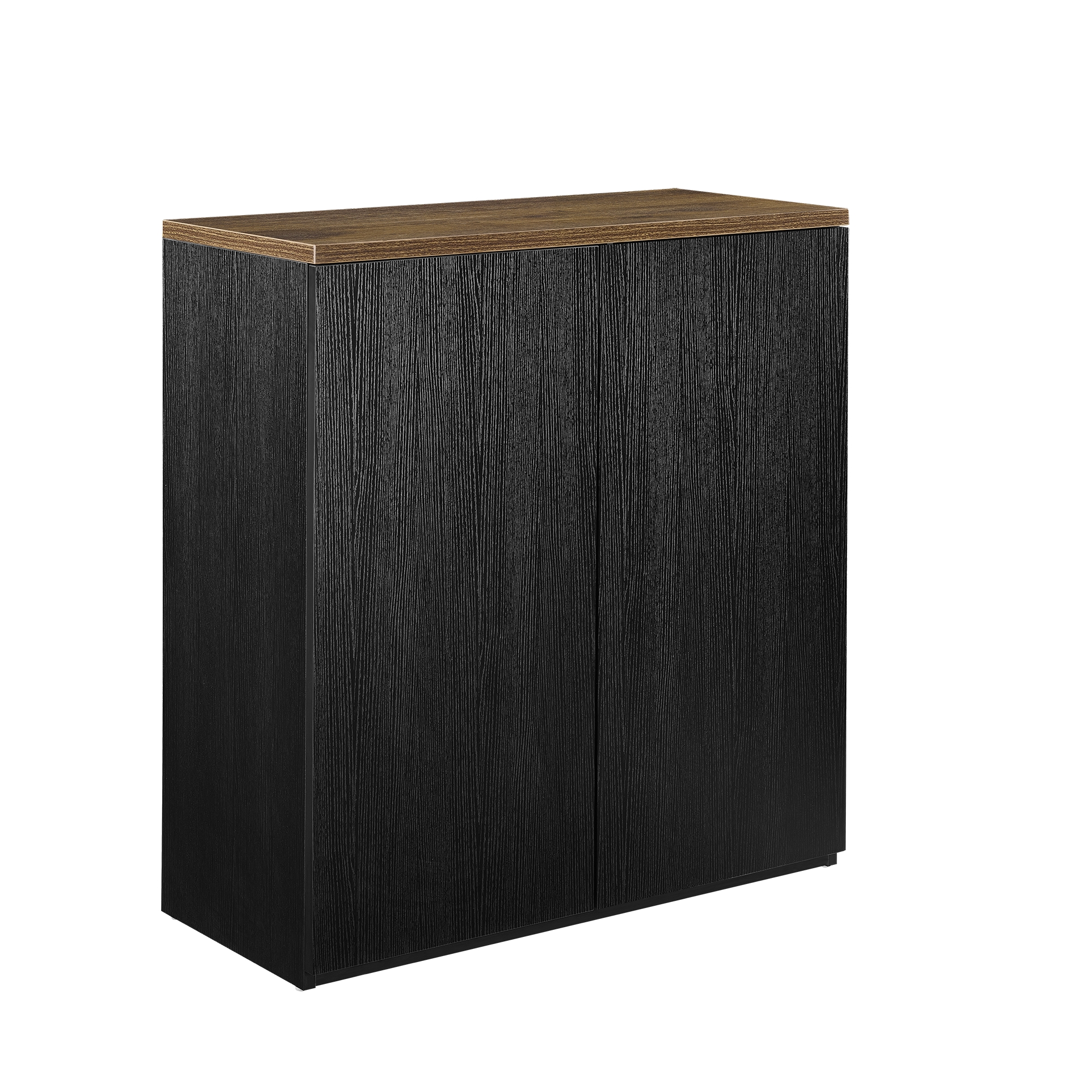 b ro regal schrank 100x90cm schwarz akten b cher sideboard aktenregal. Black Bedroom Furniture Sets. Home Design Ideas