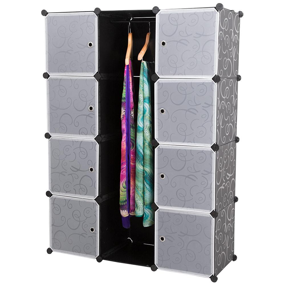 Regalsystem holz mit türen  NEUHAUS® System Regal Schrank + Türen 145x110cm Weiß Steck Büro ...