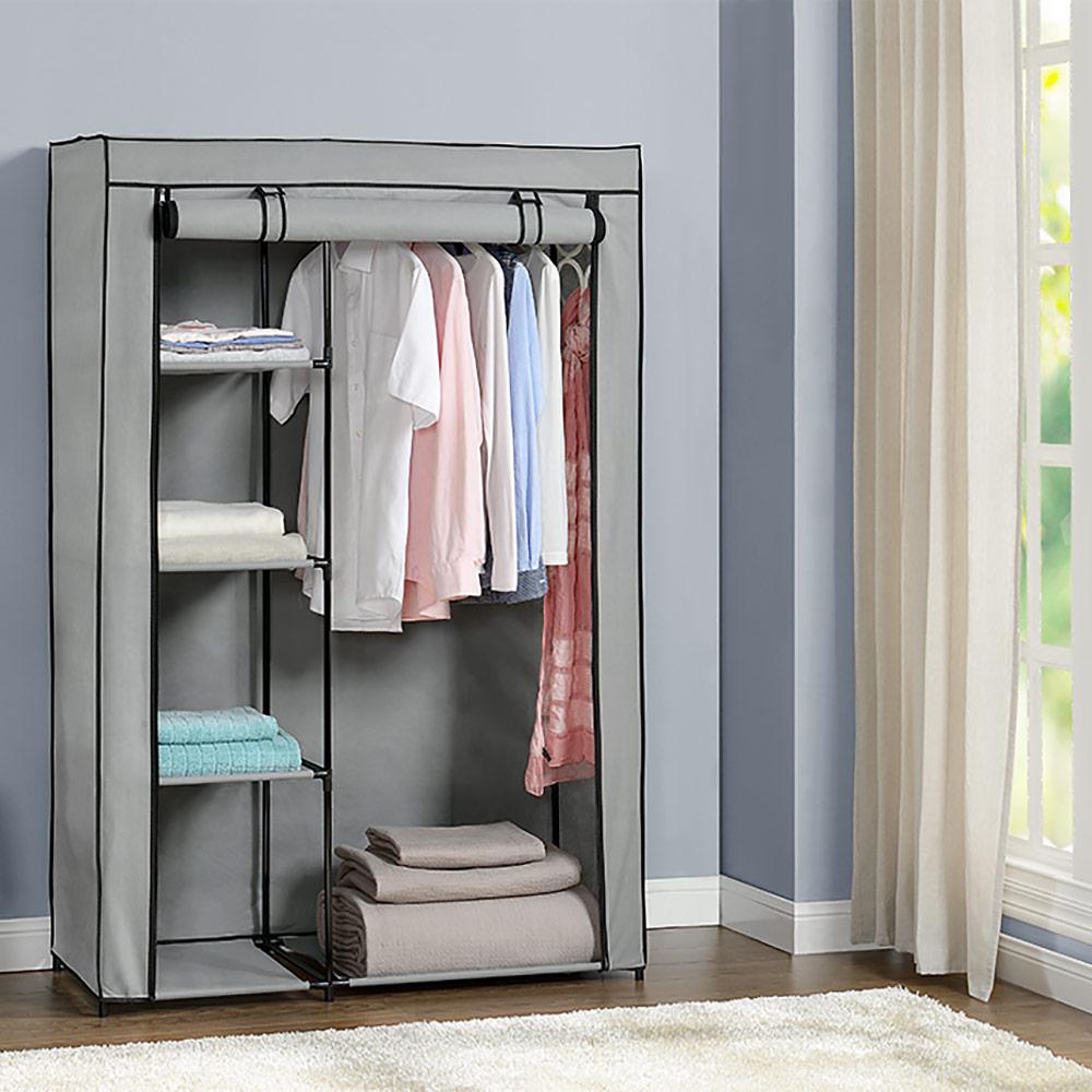 kleiderschrank stoff holz. Black Bedroom Furniture Sets. Home Design Ideas