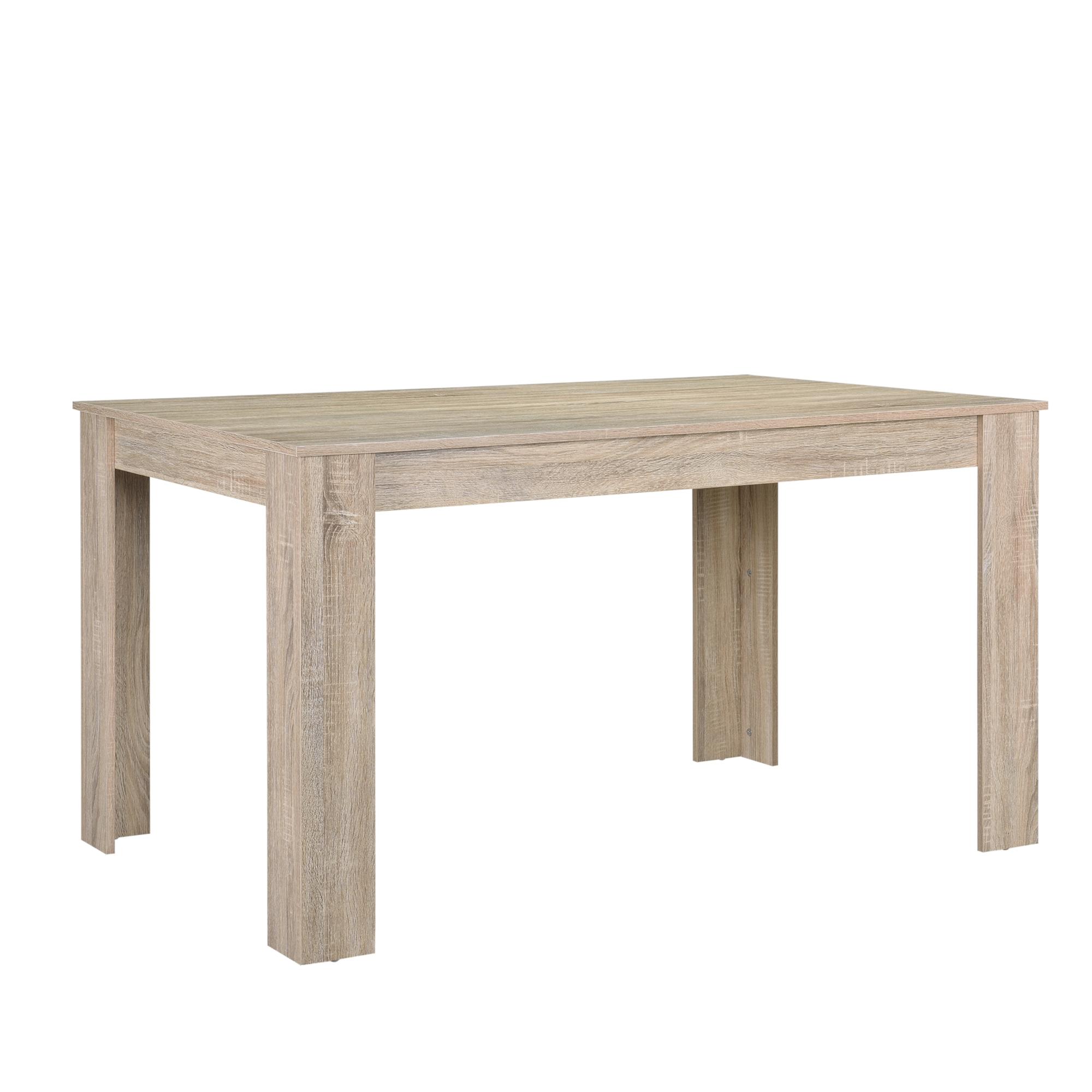 en-casa-Moderner-Esstisch-Tisch-Esszimmer-Kuechentisch-Retro-Rund-Eckig-Eiche